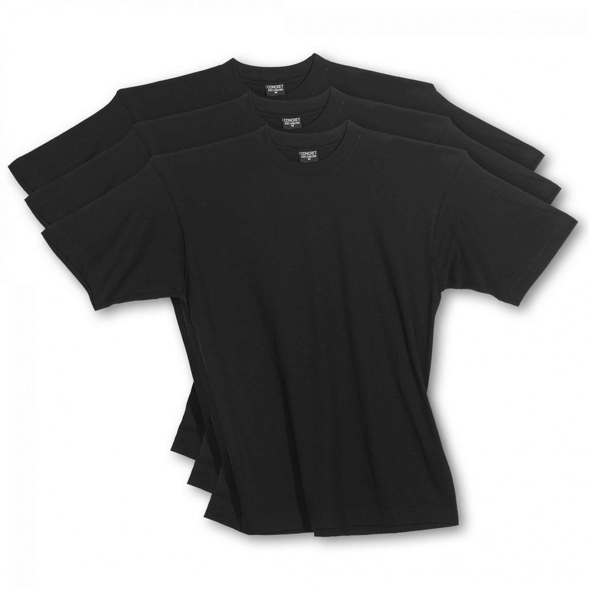 herren t shirts 3erpack schwarz rundhals auch in. Black Bedroom Furniture Sets. Home Design Ideas