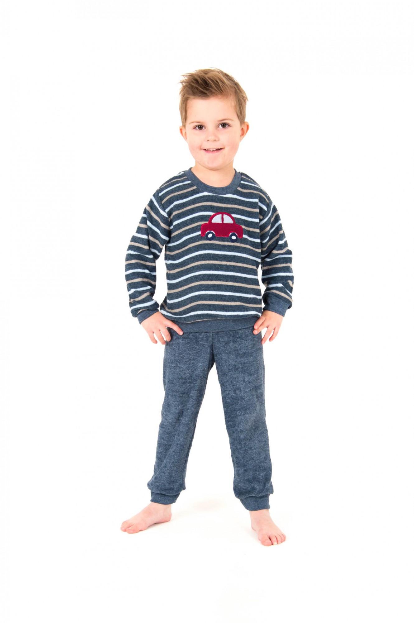 jungen frottee pyjama mit b ndchen langarm gr ssen 86 bis 110 251 801 93 101. Black Bedroom Furniture Sets. Home Design Ideas
