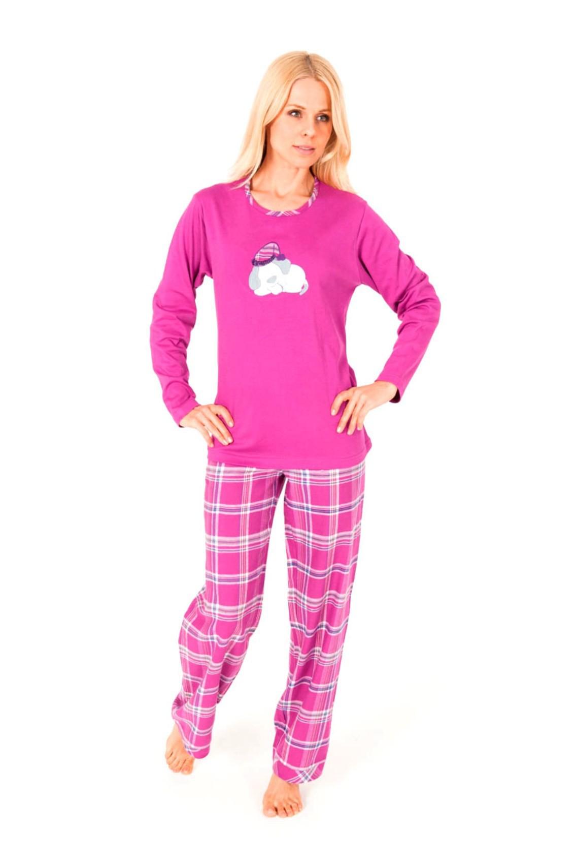 damen flanell pyjama mix match hose flanell oberteil interlock. Black Bedroom Furniture Sets. Home Design Ideas