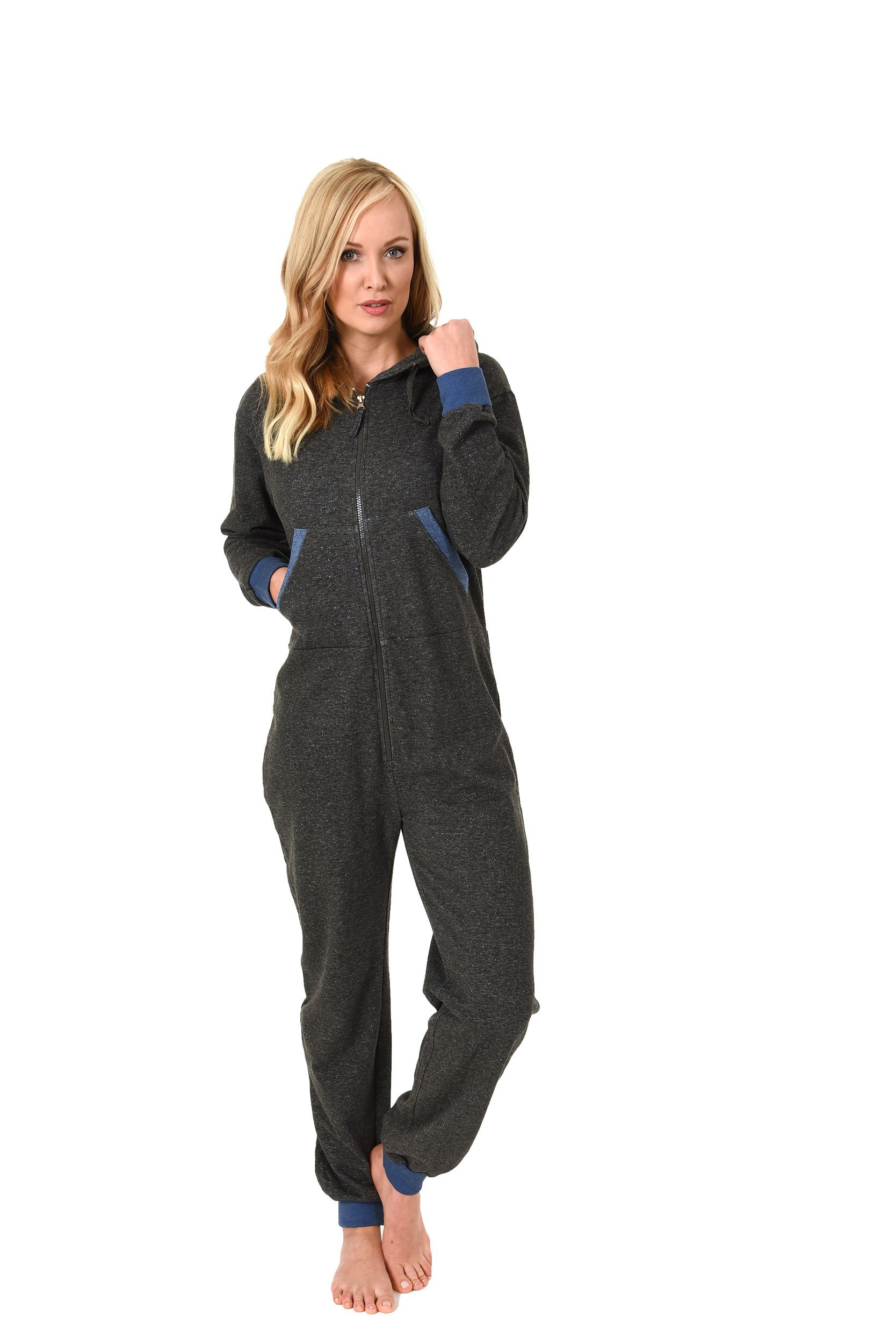 damen jumpsuit overall schlafanzug onesie einteiler langarm 271 267 99 444. Black Bedroom Furniture Sets. Home Design Ideas